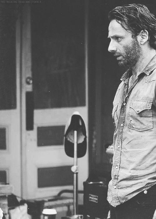 Andrew Lincoln on set  so much love