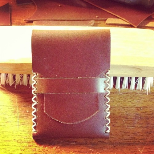 Custom card wallet for @tampcoffeeco #kgleather #wallet #handmade #handstitched #leather  (at KG Leather)
