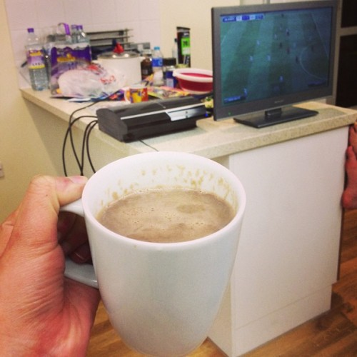 Standard night #NutellaHotChocolate #FIFA
