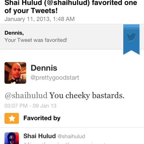 Shai Hulud favorited my tweet! My heart is nourished with hope and compassion.