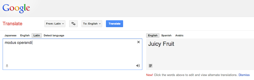 Google Translate, you are drunk.
