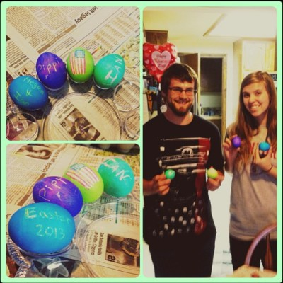 Happy Easter! Egg dying with my love:) #happyeaster #feellikeakidagain #boyfriend #greatweekend