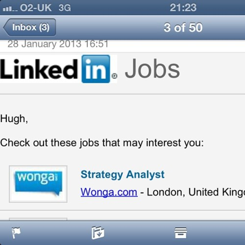 Hmm, interesting, LinkedIn. But do you have anything in the tobacco industry?