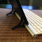 Searching for an iPad mini keyboard: Wingstand  The iPad mini is much pad-ier than my old 'n busted iPad 3, but as a writer, the typing situation is definitely a situation. I've been on the hunt for a good iPad mini writing setup, and on the recommendation from Matt Brian at The Next Web, I tried the Wingstand. Here's proof.