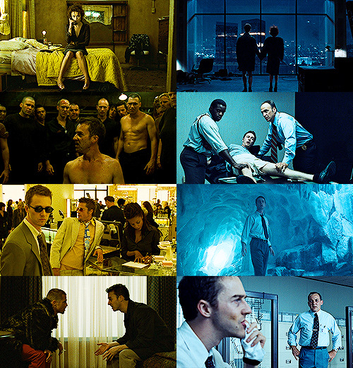 fight club + yellow & blue