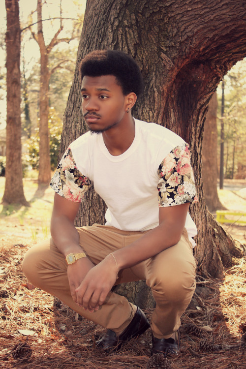 blackfashion:  Shirt: Floral Japan Tee by Lotus Apparel Kenneth, 18, ATL LiftedElegance.tumblr.com Designed by blackened-lotus.tumblr.com/