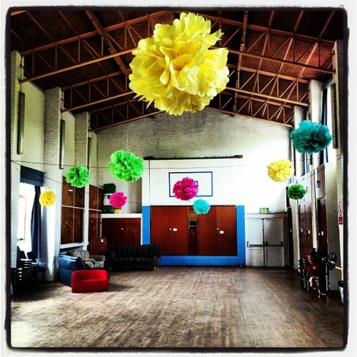 Floating flowers at the church centre.  (at St Mary's Church)