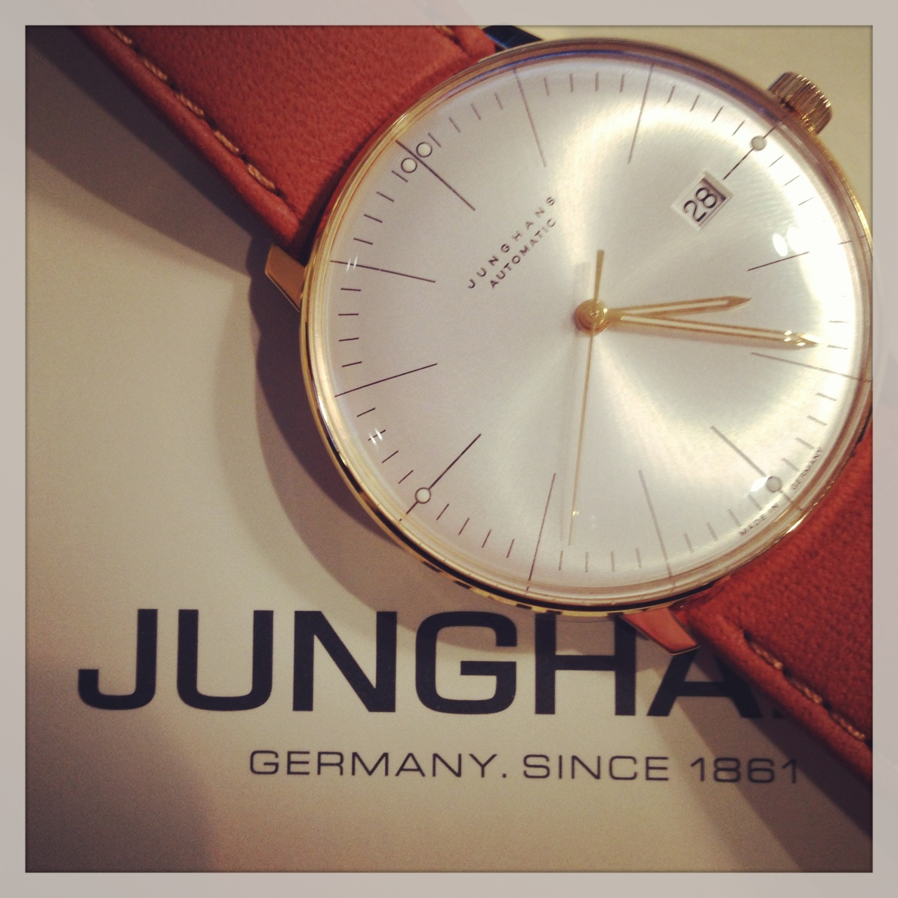 Here's another incredibly sleek design from Junghans X Max Bill. Shop this classic timepiece now> http://bit.ly/V4f1MZ