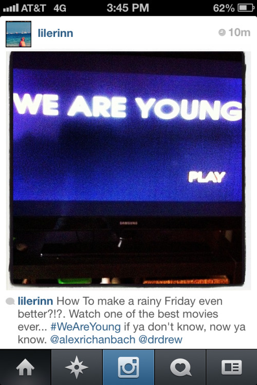 When We Are Young comes out, let's make this a thing. I love the idea of this being your rainy day movie.