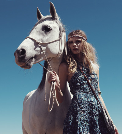 "stormtrooperfashion:  Sophie Srej in ""Blowin' in the Wind"" by Camilla Armbrust for L'Officiel Paris, February 2011"
