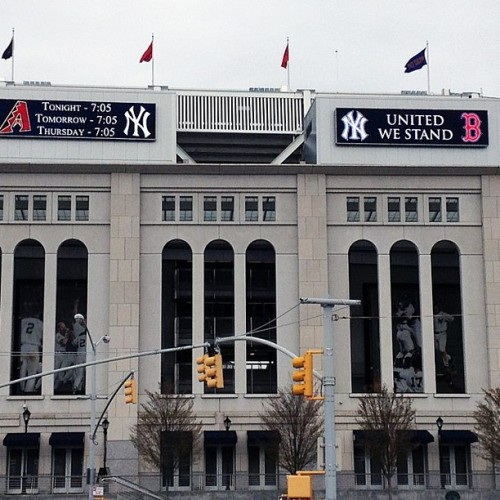 Just heard about the banner at Yankee Stadium. They even played Sweet Caroline. Classy. #GoYankees! #GoBoston!