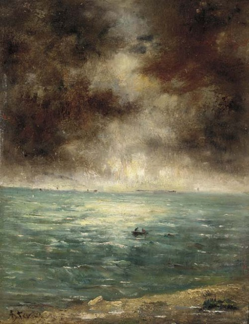 Fishing off the coast of Le Havre, Alfred Stevens. (1823 - 1906)
