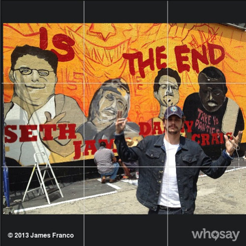 Wall painting on Melrose today #thisistheendView more James Franco on WhoSay