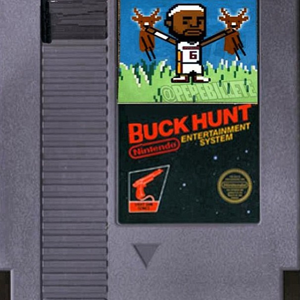 Photo: Buck Hunt featuring LeBron James and the Milwaukee Bucks.