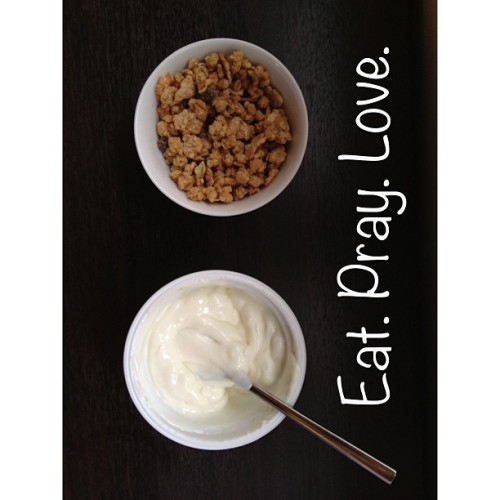 Yogurt and Cereal. #whitagram #yogurt #cereal #healthy