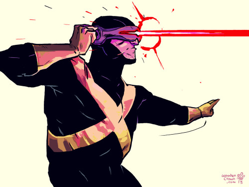 Today's Lunch time sketch :P is of Scott Summers AKA Cyclops! I'm building a team hehe Already done Beast & Shadowcat. Whos next?