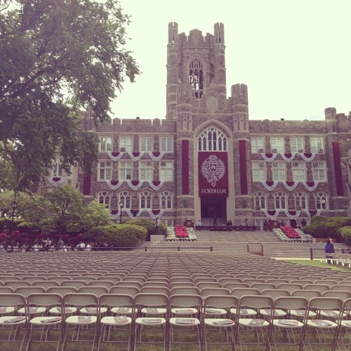 Graduation day @brdwyembg  (at Fordham University - Rose Hill)