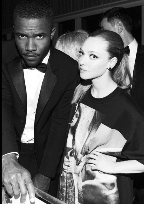 blissful-parissa:  senyahearts:  Frank Ocean & Amanda Seyfried - Met Gala After-Party  Blissful-parissa.tumblr.com/ Follow me and I'll give you free candy