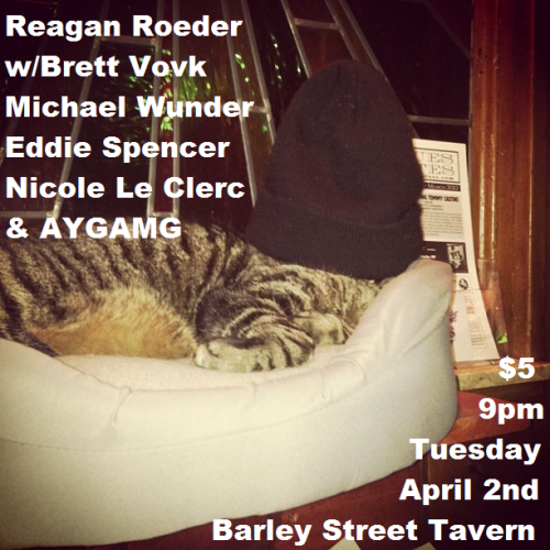 Last second show tomorrow, y'all. Rumor has it a certain Hood Cat will be there. I'm so sorry.