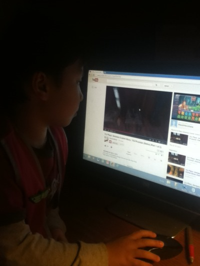 cryaoticmonki:  I WALK INTO THE OFFICE TO FIND MY 5 YEAR OLD BROTHER WATCHING CRY PLAYS: AMNESIA CUSTOM STORIES AND HE IS FIVE AND TYPED IT IN ALL BY HIMSELF AND THE MINUTE I COME IN HE PAUSES AND LOOKS AT ME AND GOES DON'T TELL MOM BECAUSE HE SAYS A BAD WORD I'M CRYING