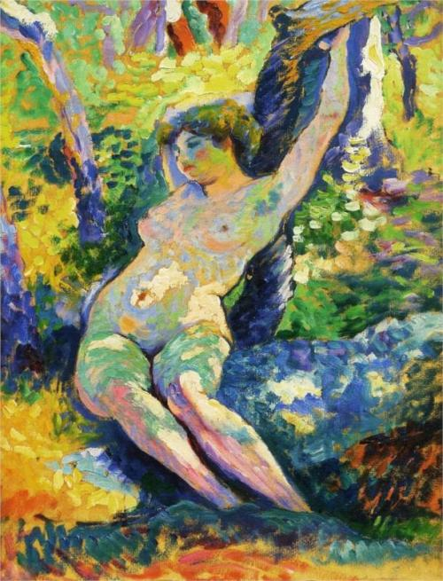 Young Woman (Study for The Clearing) von Henri-Edmond Cross