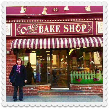 Yes, this is me in front of Carlo's Bakery! I was so excited to be there. Wonderful place!