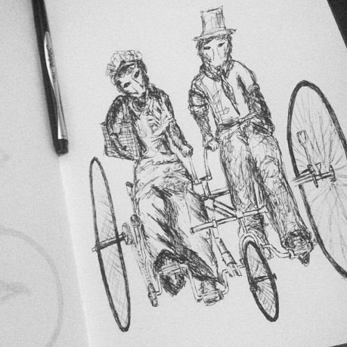 Mr. & Mrs. Fox's ride. Tonight's daily sketch.
