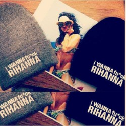 therealmadmaxx:  I wanna fuck Rhianna beanies. Fuck wit a real bitch