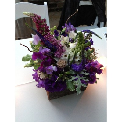 Lots of pretty purples at yesterday's wedding in Carmel