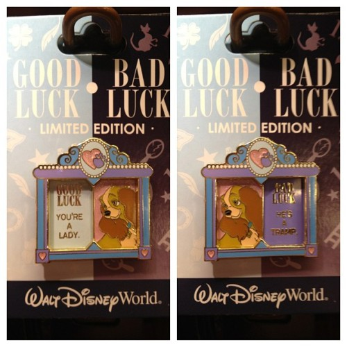 Good luck, Bad luck Lady pin #ladyandthetramp #disney #pin
