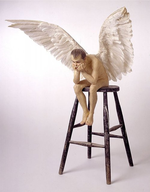 cavetocanvas:  Ron Mueck, Angel, 1997