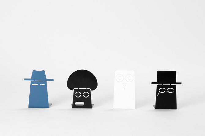 The Family, cool bookends Great design combined with personality and humor, by Morten & Jonas. Not just for kids. (via Ideas to steal)