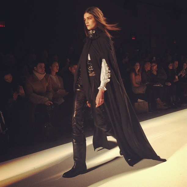 Everyone needs a good cape. This Ruffian one is on my list for next season. #nyfw #mbfw #fashion