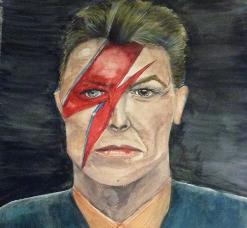 It's a sad day for Bowie #1. I'm halting this here. It's too dark and dull and something's just not quite right. It's good practice for an eventual portrait! Never really happy with anything first time round anyway..