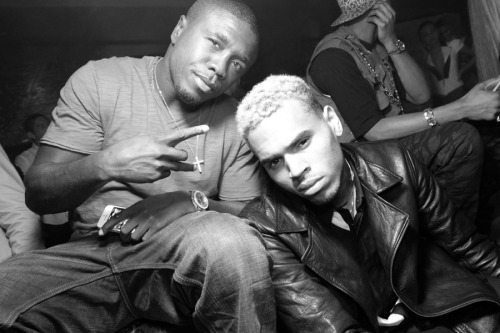 lovingcbreezy:  Chris and Andre Berto at Greystone last night.
