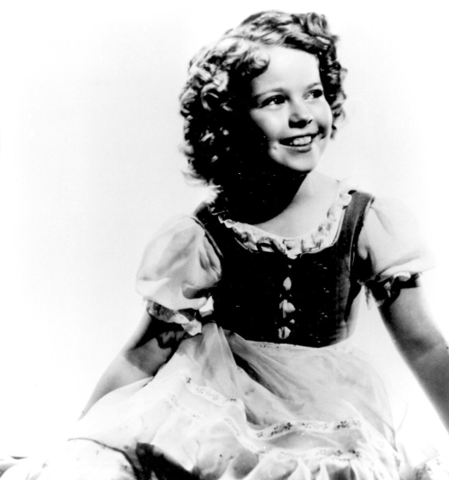 Shirley Temple as Heidi, 1937.