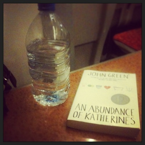 Got the funniest little table for two, some cold water and a bit of John Green. This train ride is gonna be good!