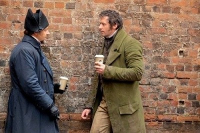 Valjean: So then I was like, dude, it's just bread.  Javert: Bread matters. It's like the cornerstone of society. Valjean: You're really deep under that hat. Javert: I try. Want another coffee? Valjean: Only if it's decaf. Otherwise I'll be up all night, singing and whatnot. Javert: Some of us do that anyway.  Valjean: I have to grab sleep when I can. Those fucking kids on the barricade will not stop drinking the wine of friendship and keeping me awake at all hours of the night.  Javert: I could stop by. Arrest them. You know.