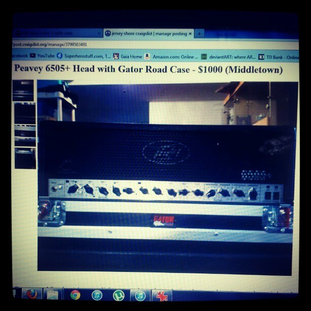 Peavey 6505 + Head with Gator Road case for sale! $1000. Case has never been used!! Comment if interested!! #peavey #6505 #peavey6505 #gator #roadcase #gatorroadcase #forsale #craigslist #middletown #nj #lmk