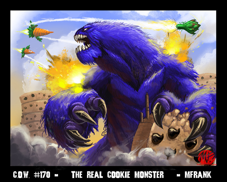 COW - The Real Cookie Monster by *KaijuSamurai