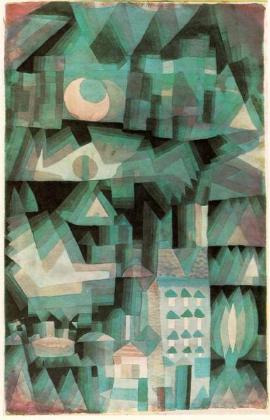 museumuesum:  Paul Klee Dream City, 1921 Watercolor and oil, 18 7/8 x 12 1/4 in