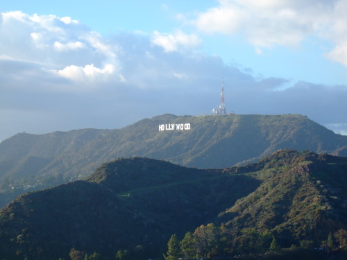 "Hollywoodland sign as it is today! The ""Hollywood"" sign as seen from Griffith Park Observatory, in Los Angeles, California. Had to go to L.A. on business about 2 weeks back, and took a side trip to Griffith Observatory (It's FREE by the way - except for the planetarium show, cafe or gift shop)."