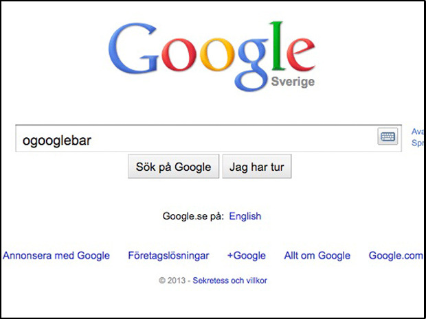 "Sweden language officials express 'displeasure' after Google objects to word 'ogooglebar'Sweden's language watchdog has accused Google of trying to control the Swedish language, in a dispute over the definition of the term ""ungoogleable.""The Swedish Language Council unveiled its annual list of new Swedish words in December. Among them was a term Swedes began using in 2012: ogooglebar (or ""ungoogleable"").The list is compiled of words that are not in the Swedish dictionary but have entered common parlance."