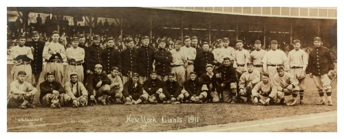1911 New York Giants Team Panoramic Champions of the National League 1911