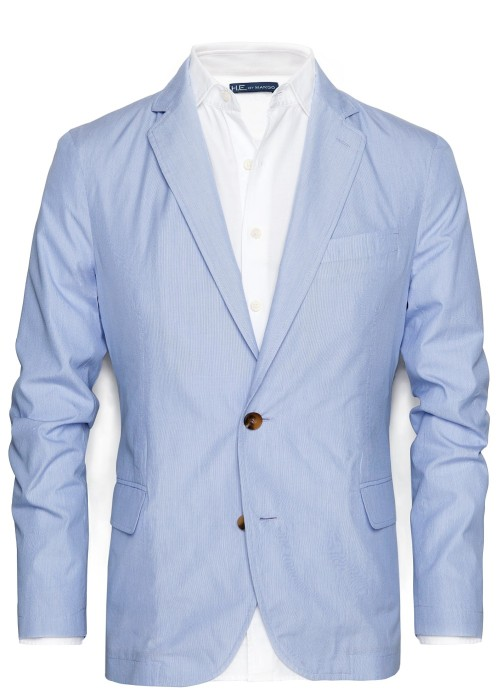 wantering:  HEbyMango Striped Cotton Blazer