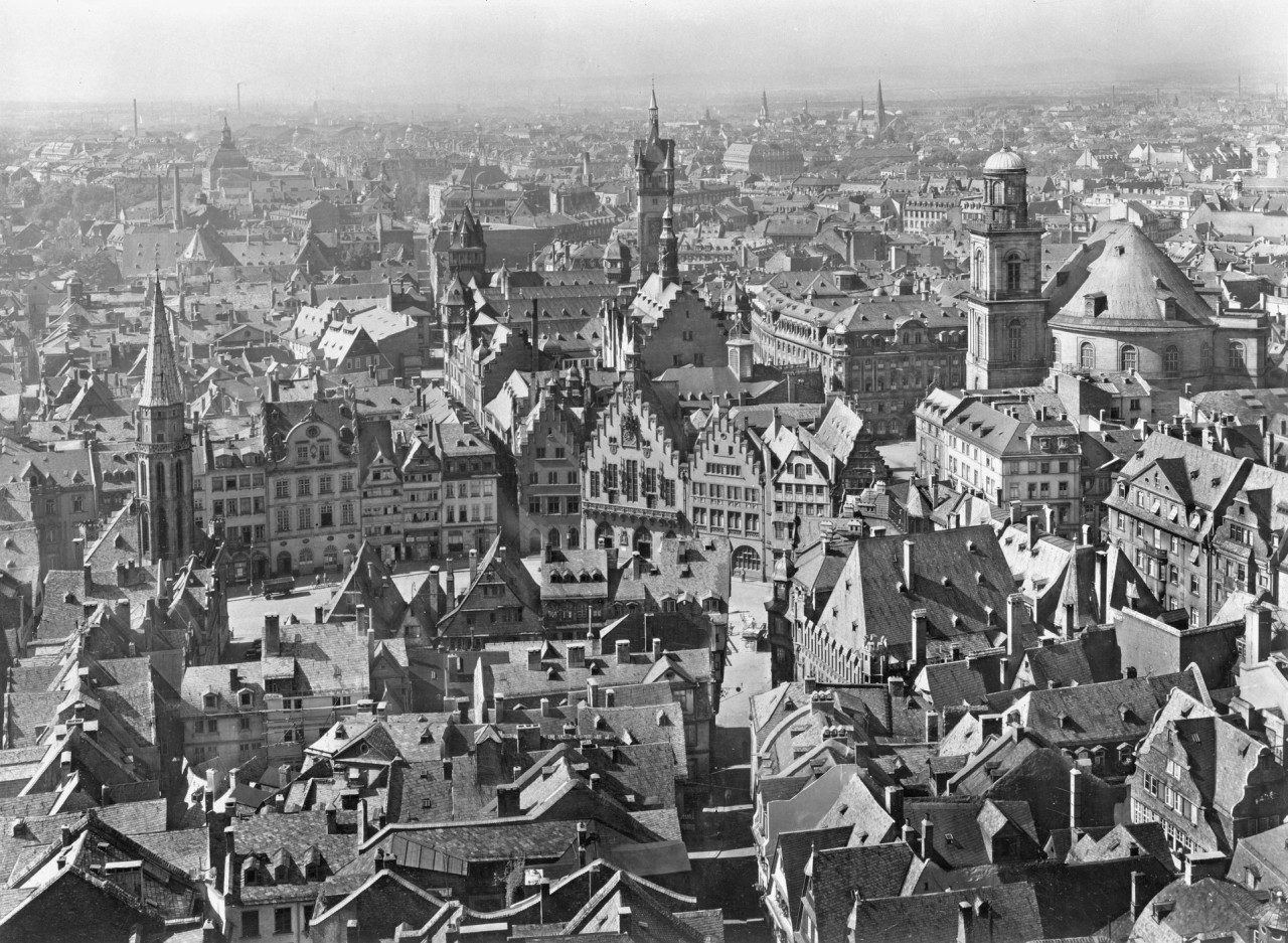 Aerial view of Frankfurt am Main