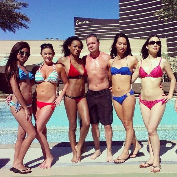 The crew for day 2 shooting this commercial 😊 #bikinis #commercial #venetian #worklife