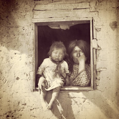 Yuma woman & child