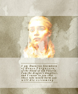 queensummers:  This dragon queen who wears her name is a true Targaryen.