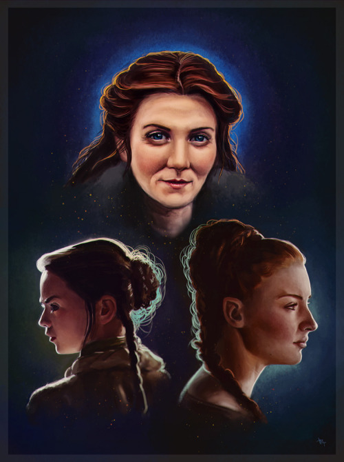 tanyabosyk:   Catelyn, Sansa and Arya Stark